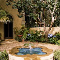 Mediterranean Courtyard Gardens Design, Pictures, Remodel, Decor and Ideas