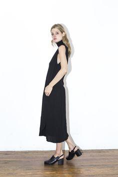 Assembly Black Pleat Dress