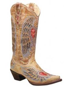 These are my babies! These corral Ladies Boots Wings Heart Peace Sign Inlay!! I love these more than any plain ol pair of boots EVER!