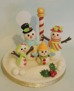 Snow family! - Cake by Shereen