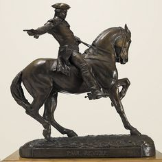 """Paul Revere"" by Cyrus Dallin. 36"" Bronze. Now available through our fine resellers. For more about the central role this sculpture played in the artist's life, click through to the artist bio."