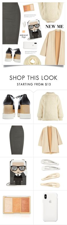 """""""New Me"""" by marina-volaric ❤ liked on Polyvore featuring STELLA McCARTNEY, I Love Mr. Mittens, Donna Karan, MANGO, Karl Lagerfeld, Kitsch, Apple, Ermanno Scervino and statementbags"""