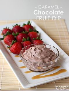 Dessert Recipe: Fluffy Chocolate Caramel Fruit Dip