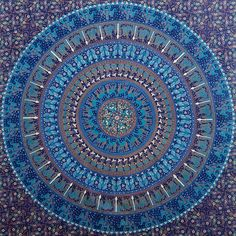 Indian Badmeri Hippie Elephant Bohemain Mandala Tapestry Psychedelic Intricate Wall Decor Queen Bedspread Bedding Tapestry