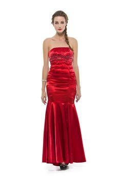 Vestido longo tomara que caia em cetim com elastano. apliques no busto e corpo drapeado. Cod. 101613   #zumzum #zumzumfesta #vestido #festa #vestidodefesta #dress #partydress