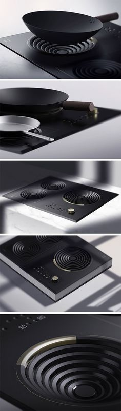 Love an induction hob but hate that you can't use it with your wok? Amphi is the answer to your woes. Thanks to its cleverly designed drop-style hob, the design finally makes it possible to use this traditional Chinese cooking pan with induction cooking. Design Industrial, Industrial Interiors, Industrial Lighting, Industrial Office, Industrial Shop, Industrial Bookshelf, Industrial Windows, Kitchen Industrial, Industrial Apartment