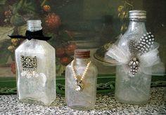 Antique *Charm* Bottles Altered Bottles, Empty Bottles, Bottles And Jars, Glass Bottles, Perfume Bottles, Jar Art, Message In A Bottle, Bottle Vase, Alters