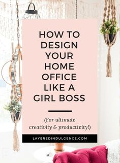 Have you always wanted a girl boss office? Check out the best décor and design tips to create a work space that keeps you motivated and productive, and looks perfectly stylish! You'll love coming to work in your home office every day and your ideas and creativity will grow more than ever!