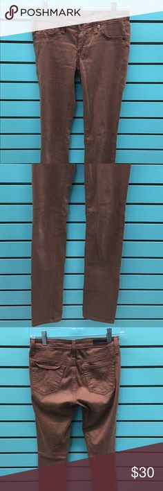 "Adriano Goldschmied Super Skinny ""The Legging"" EUC AG legging jeans size 24 Rust/Brown in color AG Adriano Goldschmied Jeans Skinny"