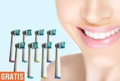 Vind jij een stralend en gezond gebit ook zo belangrijk? Dan is poetsen met een elektrische tandenborstel echt een aanrader. Poets nu super voordelig met deze opzetborstels geschikt voor de meeste Oral-B elektrische tandenborstels! #gratis
