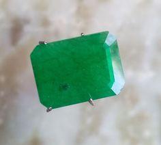 Natural Certified Emerald 7ct Zambia Faceted Octagon cut Greenish Loose Gemstone #BilalGems