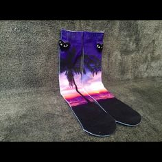 Palm Tree Beach Sunset Socks Men Women Crew Sock Very stunning and high quality Palm Tree Beach Sunset socks, perfect for anyone! One Size - Fits Sizes 6-13 Check out the other 16 styles at my closet! Other