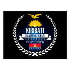 Shop Kiribati Postcard created by WORLDKDR. Kiribati Flag, Create Your Own, Create Yourself, Political Events, National Flag, Activity Games, Travel And Tourism, Postcard Size, Flags