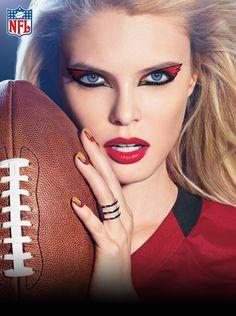Arizona Cardinals Makeup Tips, Beauty Makeup, Hair Makeup, Hair Beauty, Makeup Ideas, Makeup Tutorials, Patriots Football, Houston Texans Football, Green Eyeshadow