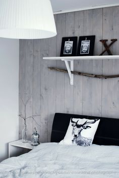 bedroom, wood wall, cushion by nord