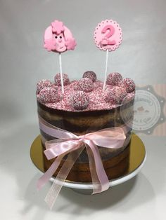BOLO POODLE ROSA - TORTA POODLE ROSADO - PINK POODLE BOWL Pink Poodle, Cakes, Girls, Pie Cake, Toddler Girls, Cakes For Kids, Daughters, Maids, Cake