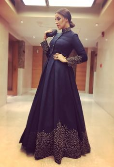 Neha Dhupia in long frock.