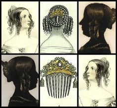 Victorian hair comb silver plated hair by ElrondsEmporium on Etsy
