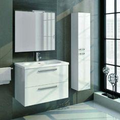Mueble de baño ORANGE 60 formado por mueble y lavabo. Posibilidad de adquirir espejo MURANO. Mueble de baño en 60 cm de ancho. Lavabo de cerámica SLIM 60 cm.
