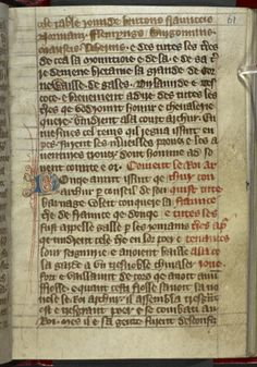 Additional 35092 f. 61 Title Prose Brut Origin England Date 2nd or 3rd quarter of the 15th century Language French (Anglo-Norman) Script Gothic cursive