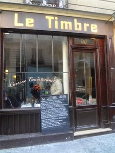 Le Timbre - A charming small restaurant in Paris 6e, between Luxembourg Gardens and Boulevard Montparnasse                             http://hipparis.com/2014/12/10/le-timbre-changes-at-the-well-loved-french-bistro-on-paris-left-bank/