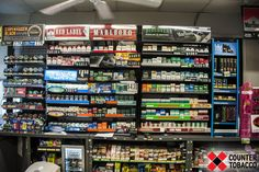 Powerwall display, displays of tobacco products