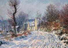 Claude Monet - The Road to Giverny in Winter