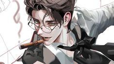 Digital Art Anime, Digital Art Girl, Anime Art, Cool Anime Guys, Yandere Anime, Demon Art, Anime Poses, Handsome Anime, Boy Art