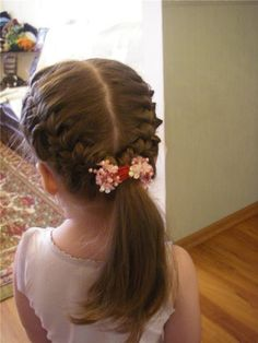 Double braided hairstyle | Kenra Professional Kids Hairstyle Inspiration
