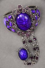 Purple passion cuff/ring bracelet Buy it here:http://www.sassnfrass.net/#Lorissaleigh