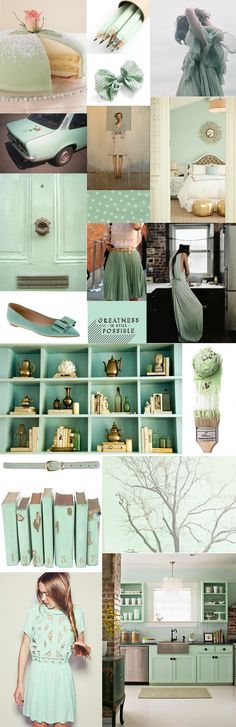 mint and gold inspiration