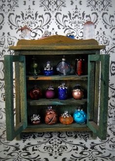 Enchanted Potions Cabinet Miniature  - One of a Kind