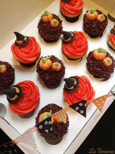 Minicupcakes halloween (Buttercream) by La Tanana, via Flickr