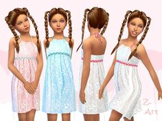 Sims 4 CC's - The Best: Dress for Girls by Zuckerschnute20