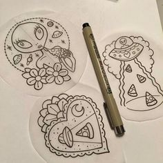 UFO tattoos with tacos? Future Tattoos, Love Tattoos, Tattoo You, Beautiful Tattoos, Body Art Tattoos, Tattoo Sketches, Tattoo Drawings, Hard Drawings, Pizza Tattoo