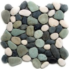 Maui Turtle Pebble Tile by Strata Stones  this would be great for a spa, because of the smooth, natural touch it would give