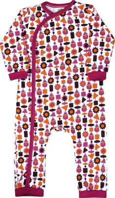 "Kiwi Industries ""Telly Monster with Raspberry"" Crossover Romper"