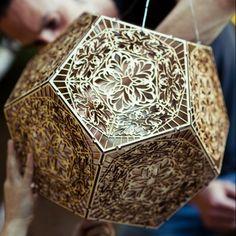 Laser cut dodecahedron AAAAA