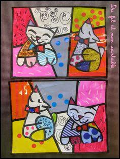 Du fil et mon cartable : Romero Britto Cat Crafts, Rock Crafts, Painting For Kids, Art For Kids, Splat Le Chat, Festival D'art, Lapin Art, 4th Grade Art, Ecole Art