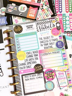 Planner Tips, Planner Layout, Planner Pages, Printable Planner, Planner Stickers, Printables, Arc Planner, Planner Supplies, Mini Happy Planner