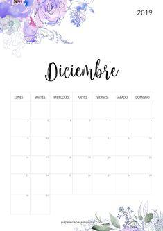 Calendario para imprimir 2019 - Diciembre  #calendario #calendari #calendar #diciembre #december #freebie #gratis #imprimir #printable #papeleria #stationery