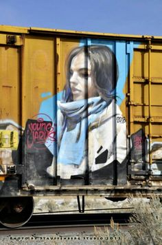 Just passing through (Stauffenberg Studio) Tags: street art train studio young stauffenberg jarus World Street, Train Art, Rail Car, City Maps, Street Art Graffiti, World Best Photos, Love Art, Artist, Pictures