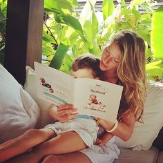 Gisele and her son. So cute