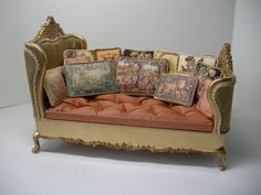Dollhouse 1:12 Scale Day Bed | by Ken Haseltine Regent Miniatures