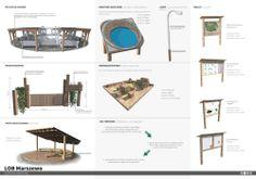 Landscape architecture, project,  small architecture forms