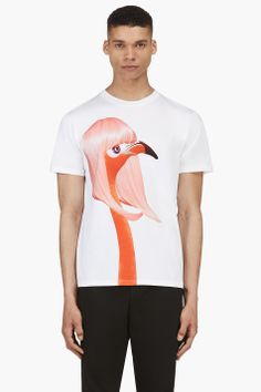 KATIE EARY White Flamingo Massacres T-Shirt