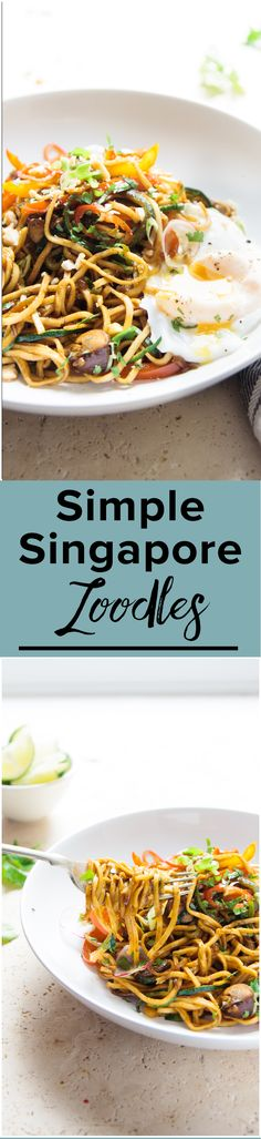 Simple Singapore Zoodles.| A fast fresh weeknight dinner solution. Singapore Zoodles for the effortless win. | www.wildeorchard.co.uk