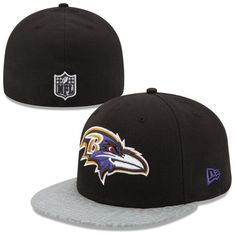 edacbe044c1384 Baltimore Ravens New Era NFL Draft 59FIFTY Reflective Fitted Hat - Black