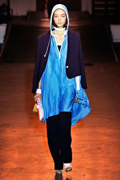 Rag & Bone Spring 2012 pinned for the color combo of turquoise and navy.
