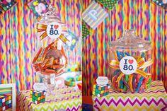 Dulces retro para una fiesta años 80 / Retro candy for a 1980s party
